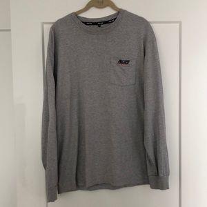 Grey Palace Basically Long Sleeve Pocket Tshirt